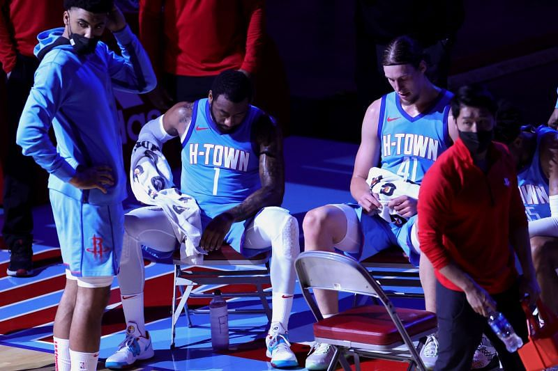 Houston Rockets stars John Wall and Kelly Olynyk