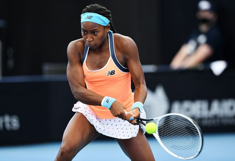 Coco Gauff will look to take control of the baseline rallies using her powerful serve and groundstrokes.