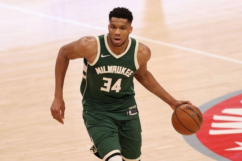 Giannis Antetokounmpo of the Milwaukee Bucks