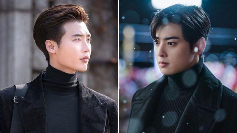 L-R: Lee Jong Suk in Romance is a Bonus Book and Cha Eun Woo in True Beauty (Image via tvN)