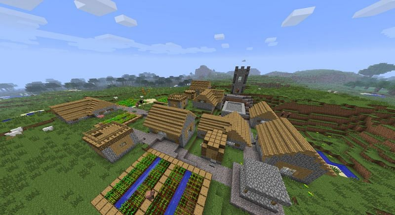 Minecraft village (Image via gaming.stackexchange.com)