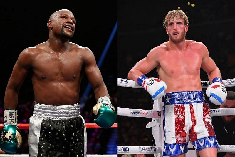 Floyd Mayweather [left] and Logan Paul [right]