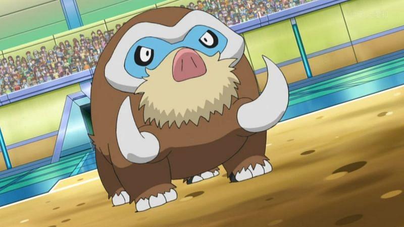 Mamoswine in the anime (Image via The Pokemon Company)