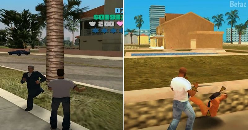 GTA Vice City is playable, but Vice City Stories incorporates a smoother gaming experience (Image via Betaz, YouTube)
