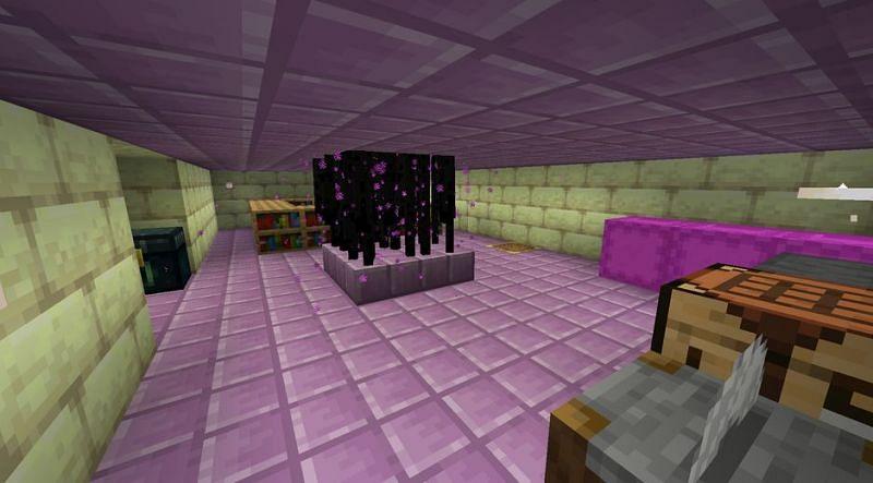 Shown: An extremely efficient Enderman farming base (Image via u/Ye_eterboi on Reddit)