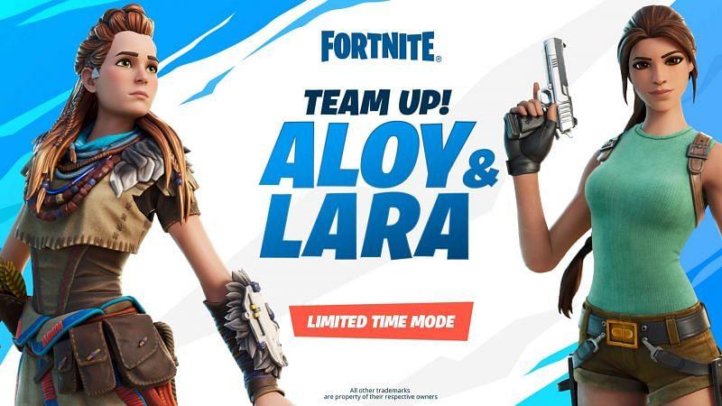 Aloy and Lara Croft Limited Time Mode (Image via Epic Games)