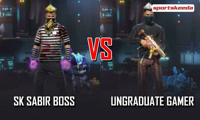 SK Sabir Boss and UnGraduate Gamer in Garena Free Fire