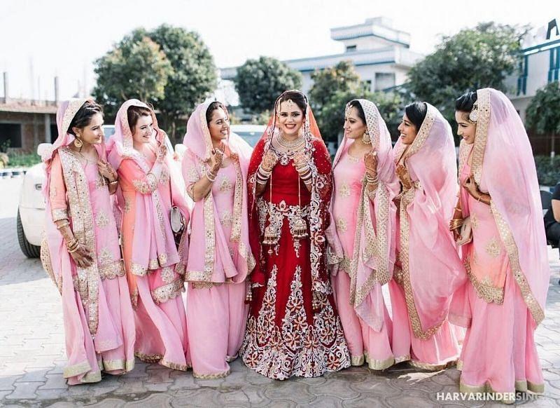 Jagdeep Jaswal's friends at her marriage