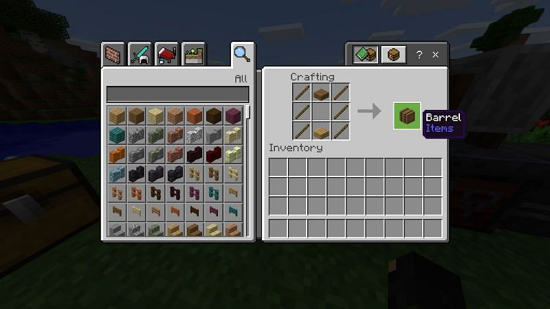 How to Make a Barrel in Minecraft- Java Edition