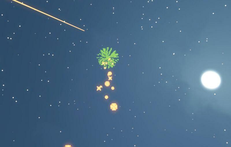 Shown: Firework Stars in Minecraft (Image via Minecraft)