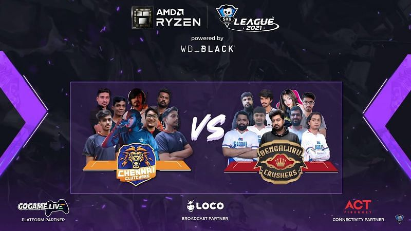 Chennai Clutchers lose again, remain bottom of the table (Image via Skyesports League)