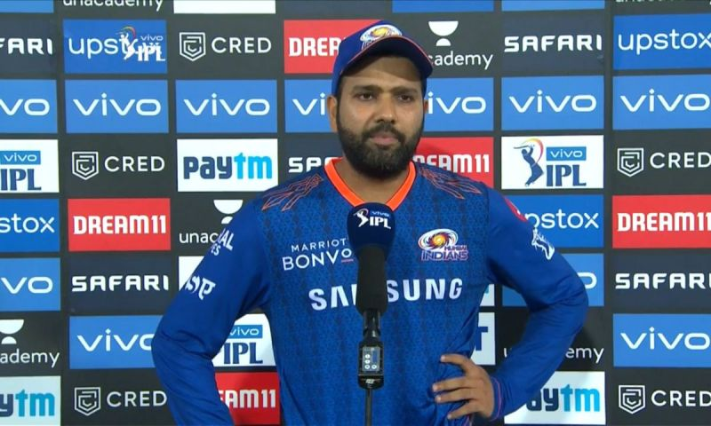 Rohit Sharma left the field on Tuesday because of a niggle.