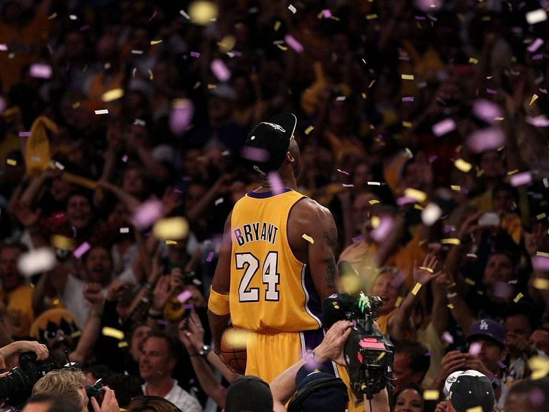 Kobe Bryant with the LA Lakers