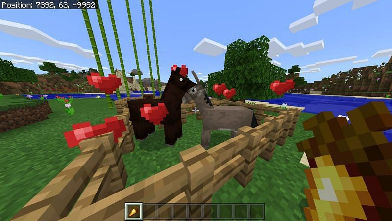 Spawning of Mules in Minecraft