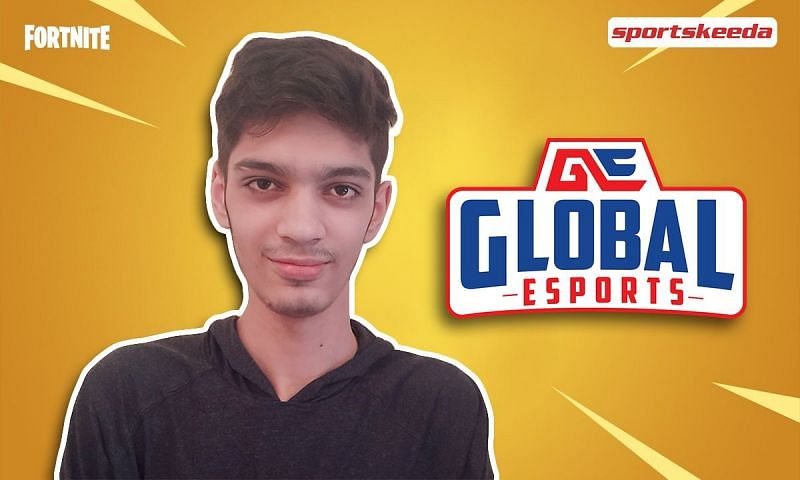 """In conversation with Param """"Hypertropher"""" Khanna, Support/Tarper in the Global Esports Fortnite roster (Image via Sportskeeda)"""