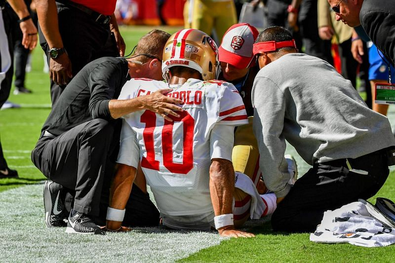 Jimmy G injured - photo credit - Bleacher Report