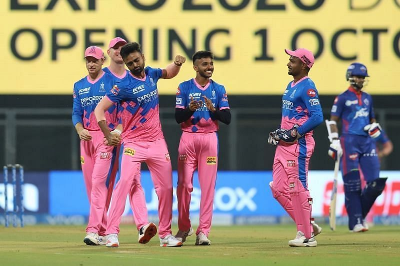 Jaydev Unadkat is ecstatic after claiming a wicket. Pic: IPLT20.COM