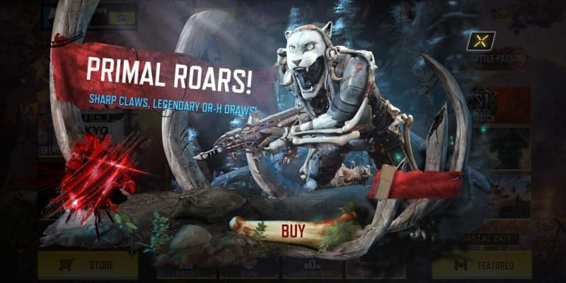 Primeval redux is the latest addition in lucky draws of season 3 (Image via Activision)