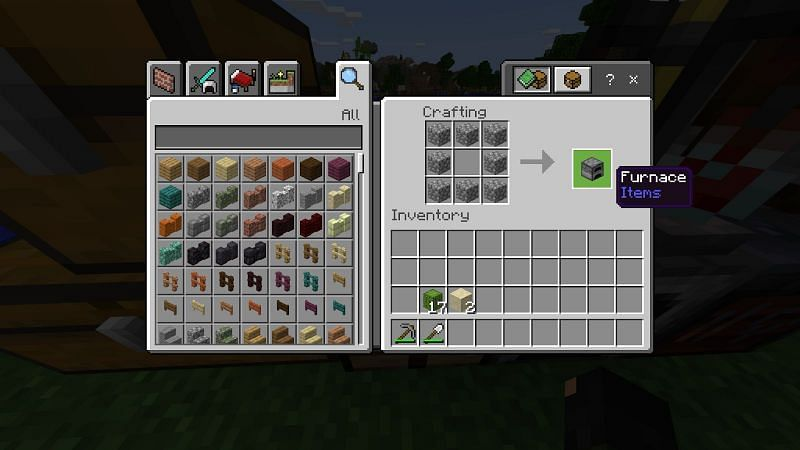 How to Get Green Dye in Minecraft- Crafting a Furnace