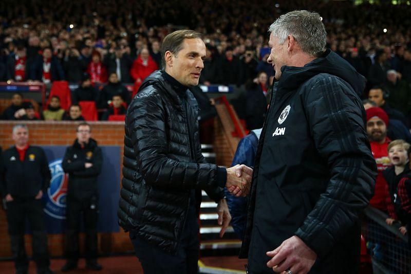 Chelsea boss Thomas Tuchel and Manchester United manager Ole Gunnar Solskjaer