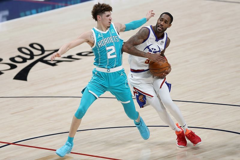 LaMelo Ball #2 of the Charlotte Hornets in action