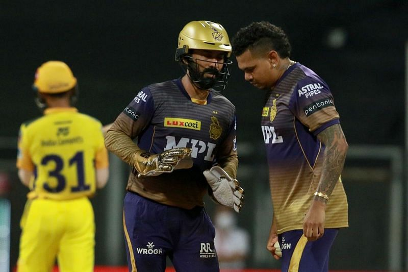 Sunil Narine is playing his first match of IPL 2021 right now (Image Courtesy: IPLT20.com)