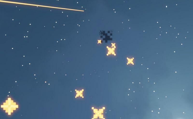 Shown: A basic firework in Minecraft (Image via Minecraft)