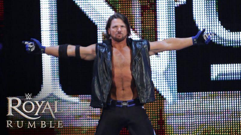 AJ Styles at Royal Rumble 2016.