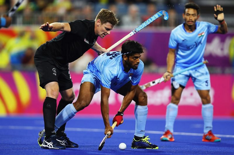 Kumar in action - Commonwealth Games Day 9