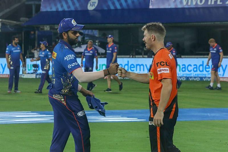 The Mumbai Indians beat the Sunrisers Hyderabad by 13 runs in IPL 2021 (Image courtesy: IPLT20.com)