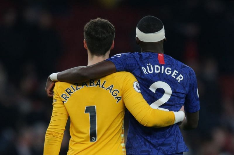 A fight broke between Chelsea first-team players Kepa and Antonio Rudiger on Sunday