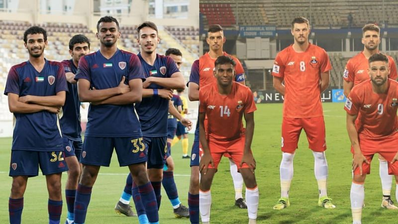 Al Wahda (L) and FC Goa will play their second match in the 2021 AFC Champions League on Saturday (Image Credits: AFC)