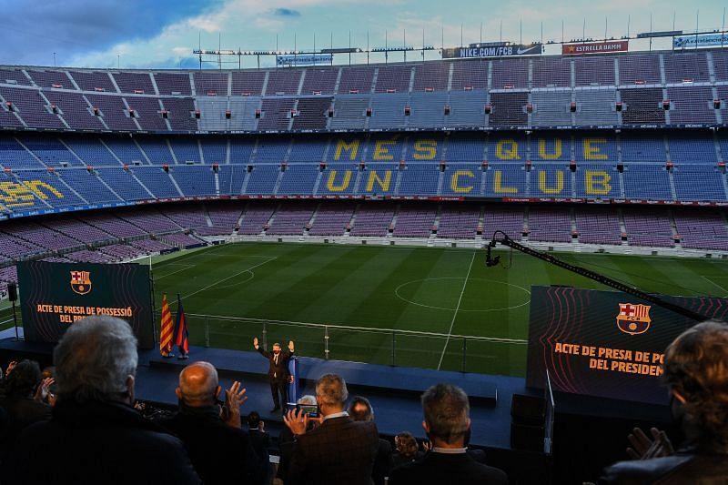 Joan Laporta is inaugurated as new FC Barcelona president.