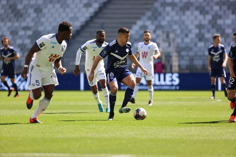 Hatem Ben Arfa will be in action for Bordeaux against Saint-Etienne; photo credit: @girondins on Twitter