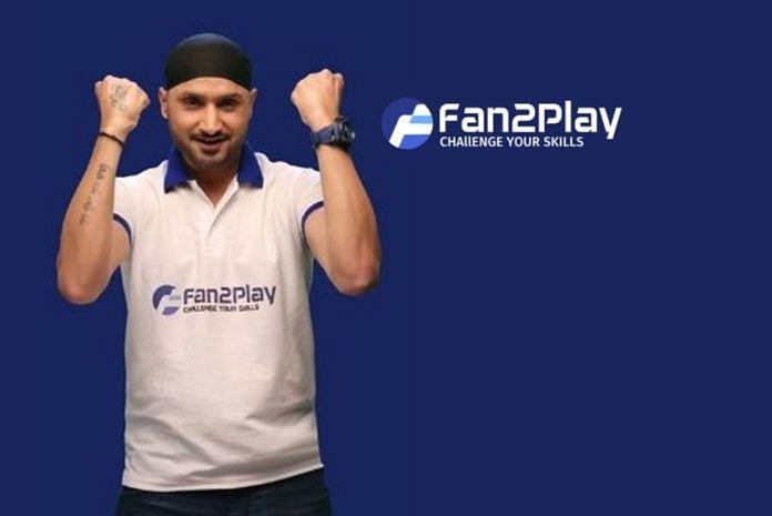 Harbhajan Singh as the brand ambassador of Fan2Play