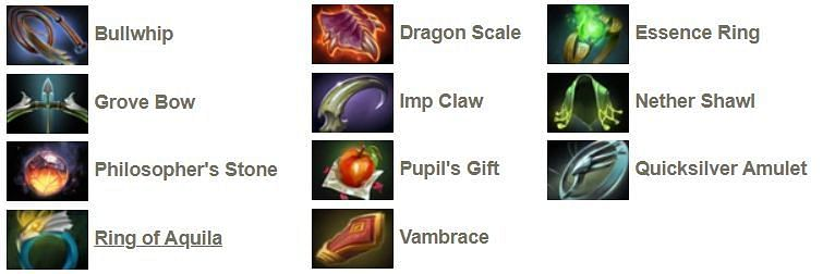 The tier-2 neutral items of Dota 2
