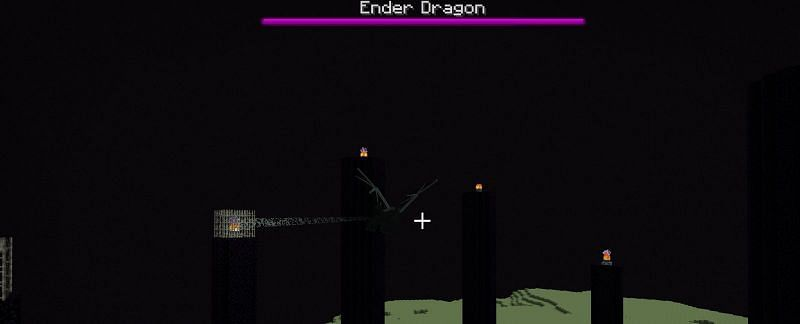 Once you've entered the end through your preferred method of access, you will then be greeted by a host of Endermen and an irate ender dragon.
