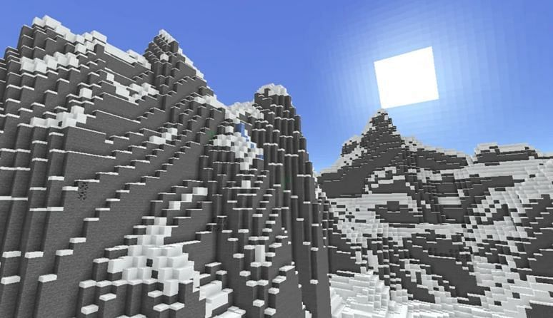 Shown: An example of the massive Lofty Peaks (Image via Mojang)
