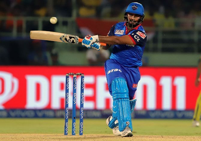 Rishabh Pant scored 343 runs at a strike rate of 113.95 in 14 matches in IPL 2020 [Credits: Reddit]