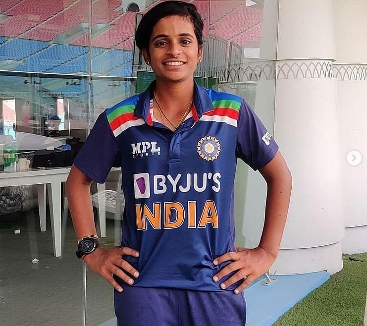 Prathyusha Challuru made her ODI debut in March this year