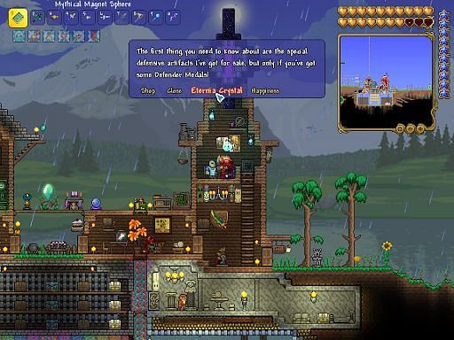 What does the Tavernkeep sell in Terraria