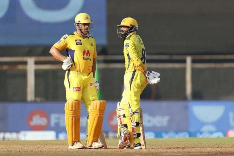MS Dhoni and Ravindra Jadeja. (PC: IPL)