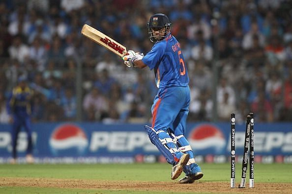 Gautam Gambhir was dismissed for 97 in the 2011 World Cup final.