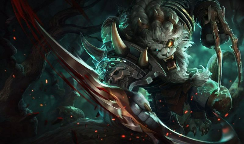 Rengar stalks his prey, neither for food nor glory, but for the sheer beauty of the pursuit (Image via Riot Games)