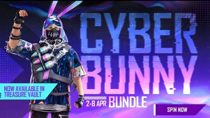 Cyber Bunny Bundle is now available for the players via the Treasure Vault event (Image via Free Fire)