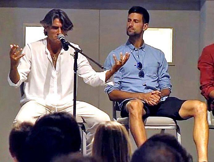 Novak Djokovic pictured with Pepe Imaz (L)