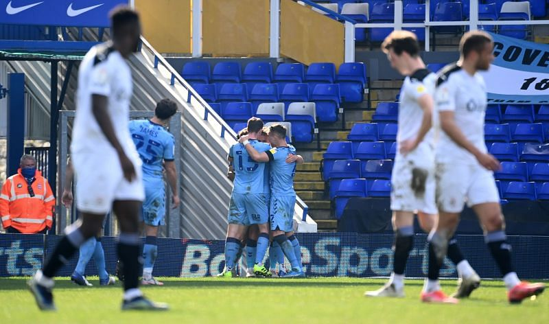Coventry City will take on Huddersfield Town
