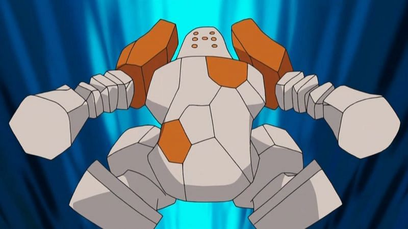 Regirock in the anime (Image via The Pokemon Company)