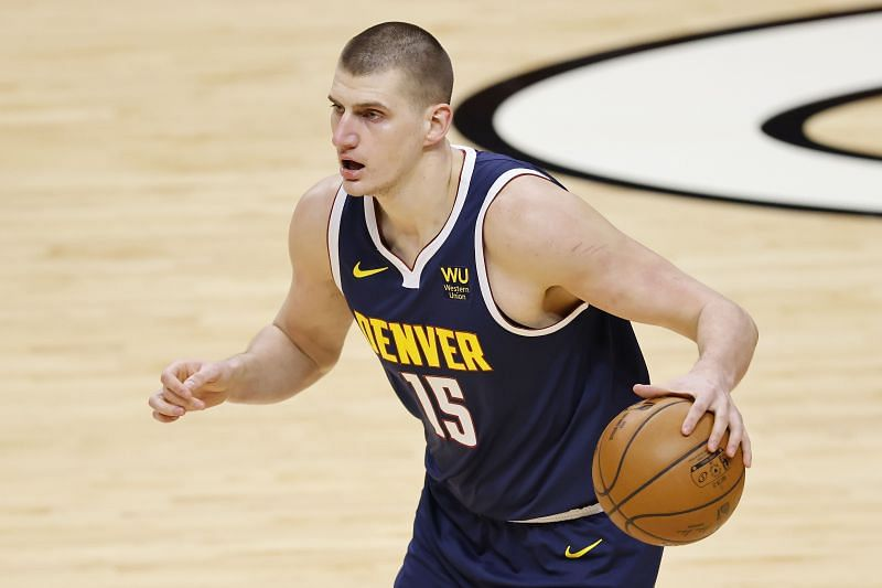 Nikola Jokic #15 of the Denver Nuggets
