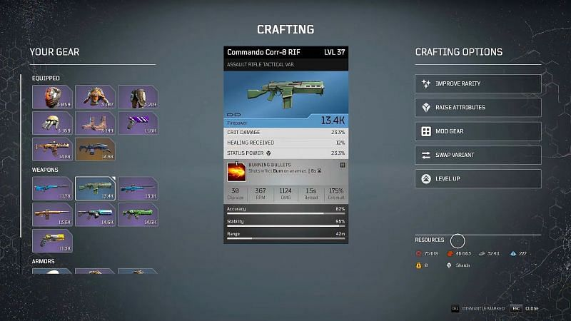 Outriders crafting guide: Resources (Image via ITZ JIMBO, YouTube)